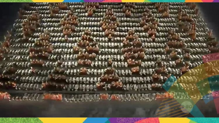 Saman Dance On Asean Games 2018 Indonesia