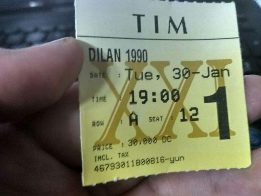 tiket nonton Dilan 1990 di TIM