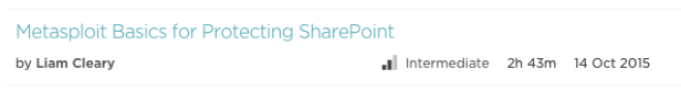 Metasploit Basics for SharePoint