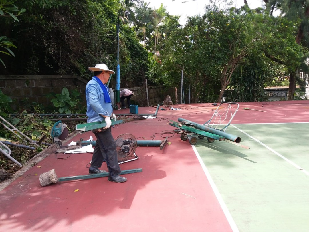 Tennis Court Renovation Project Kowloon