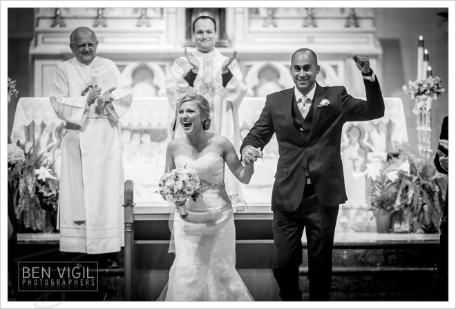 Perfect wedding day picture!