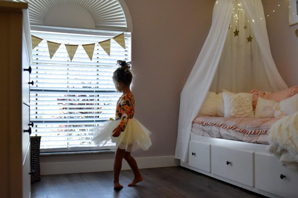 modern chic whimsical toddler girl horse inspired room