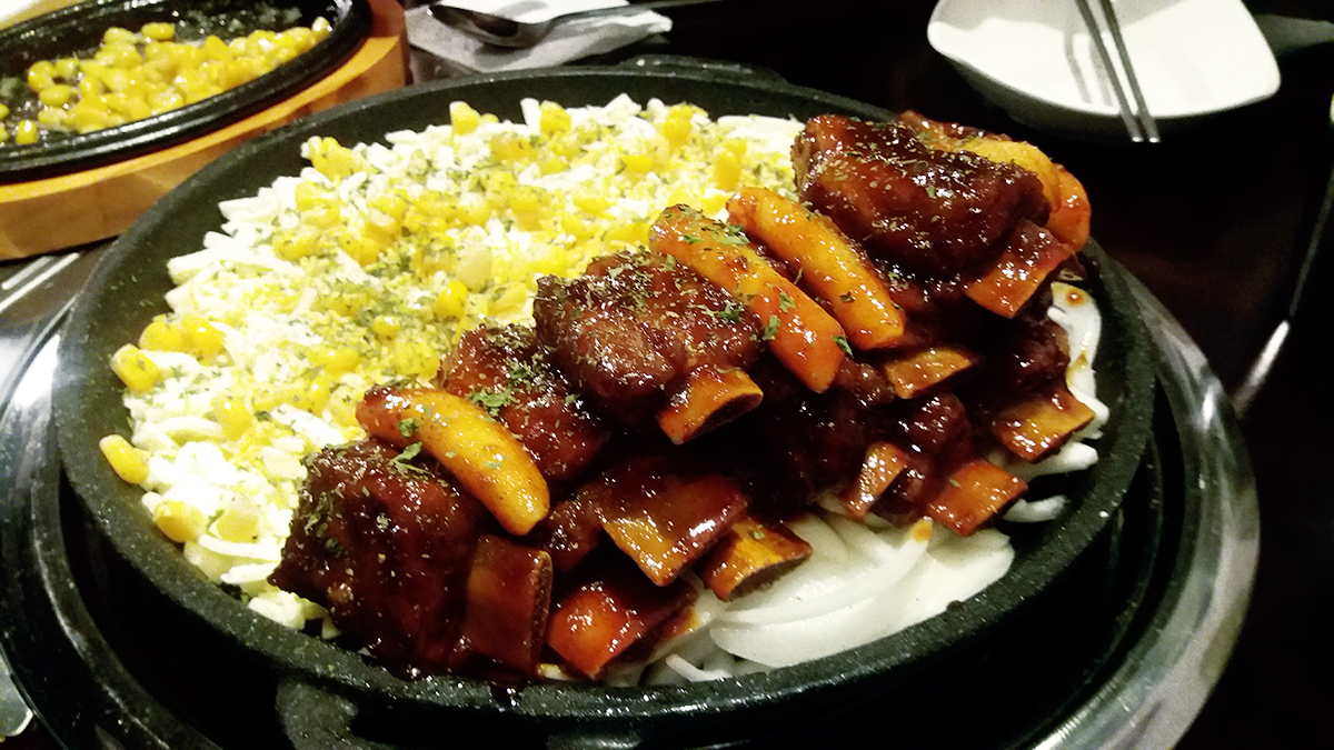 This cheese galbi is on fire !