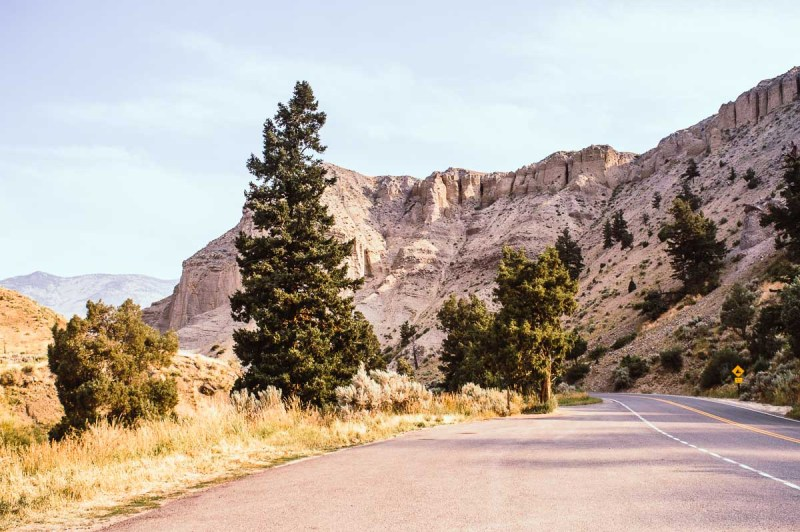 route pour gardiner à yellowstone