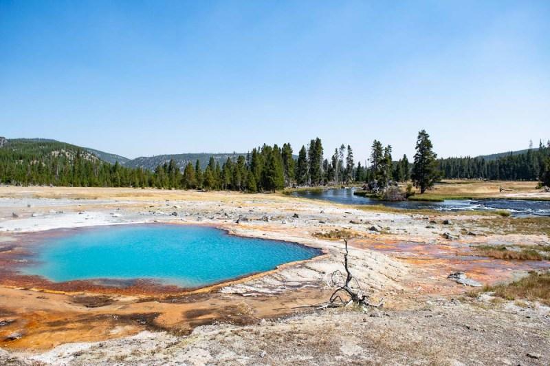 upper geyser basin et les geysers de yellowstone