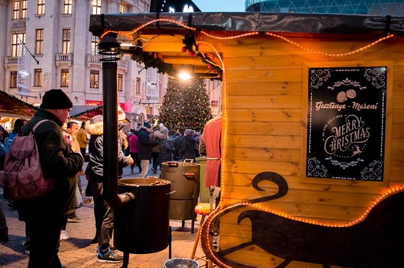 stand de châtaignes à Budapest