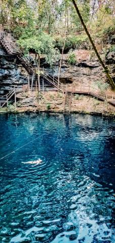 baignade au cenote x'canche