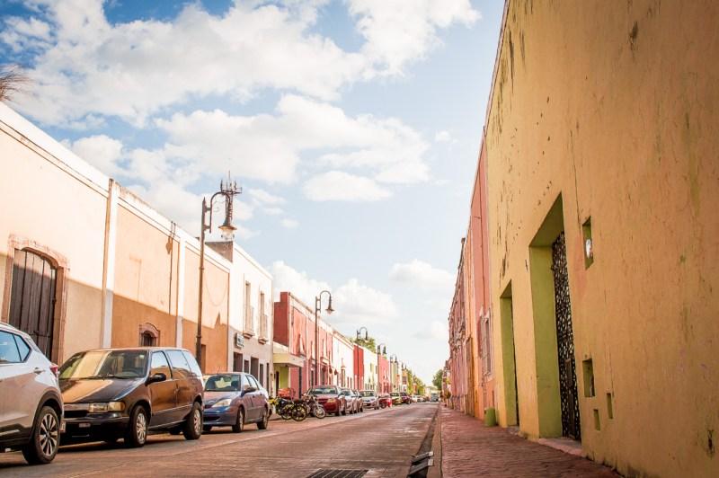 rue colorée de valladolid