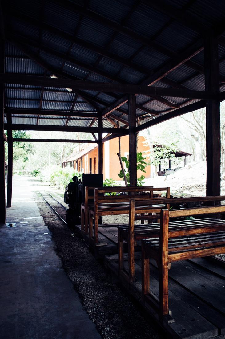 petit train dans l'hacienda Pedro de ochil