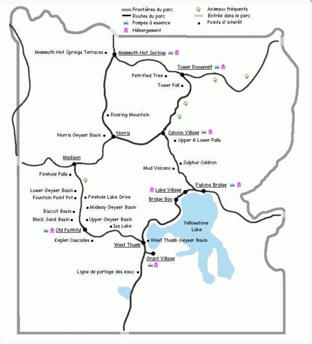 carte de yellowstone