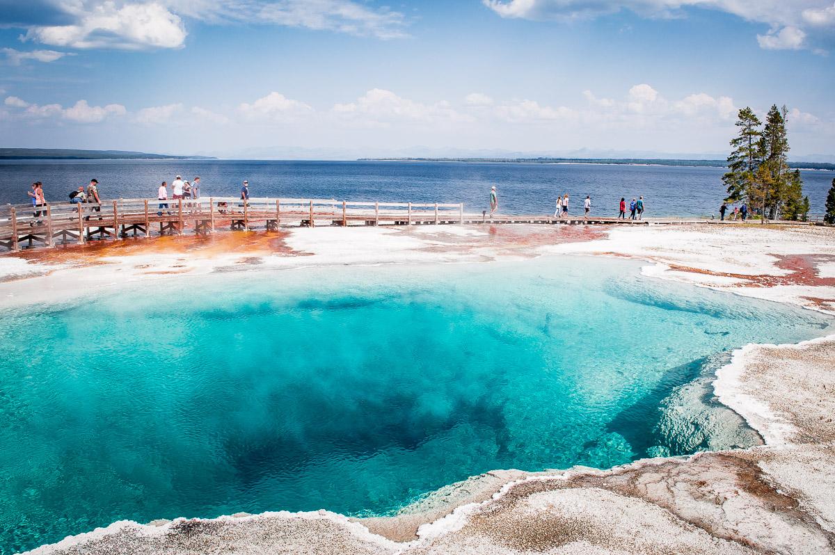 pool de west thumb lac de Yellowstone