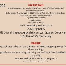 Get Creative! Design Your Own Kicks and Win Shopping Money from SM