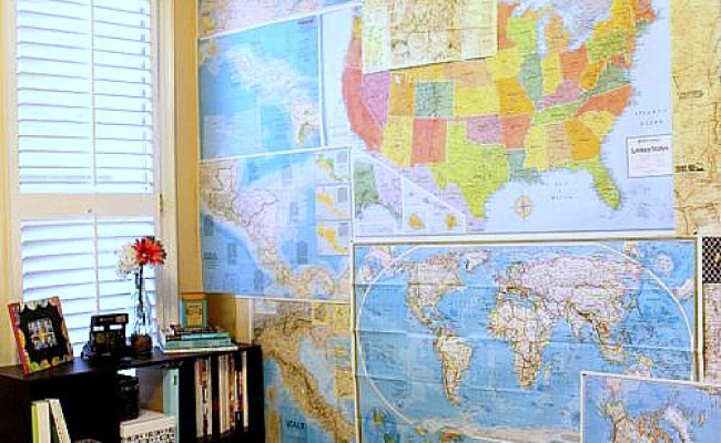 15 Diy Ideas For Decorating With Maps