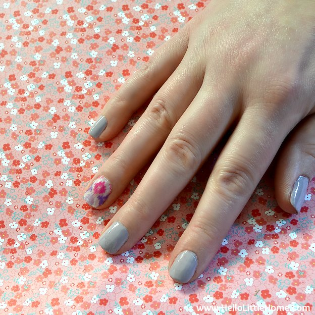 Easy Nail Art With Tape On Each Hand Washi And Painted The