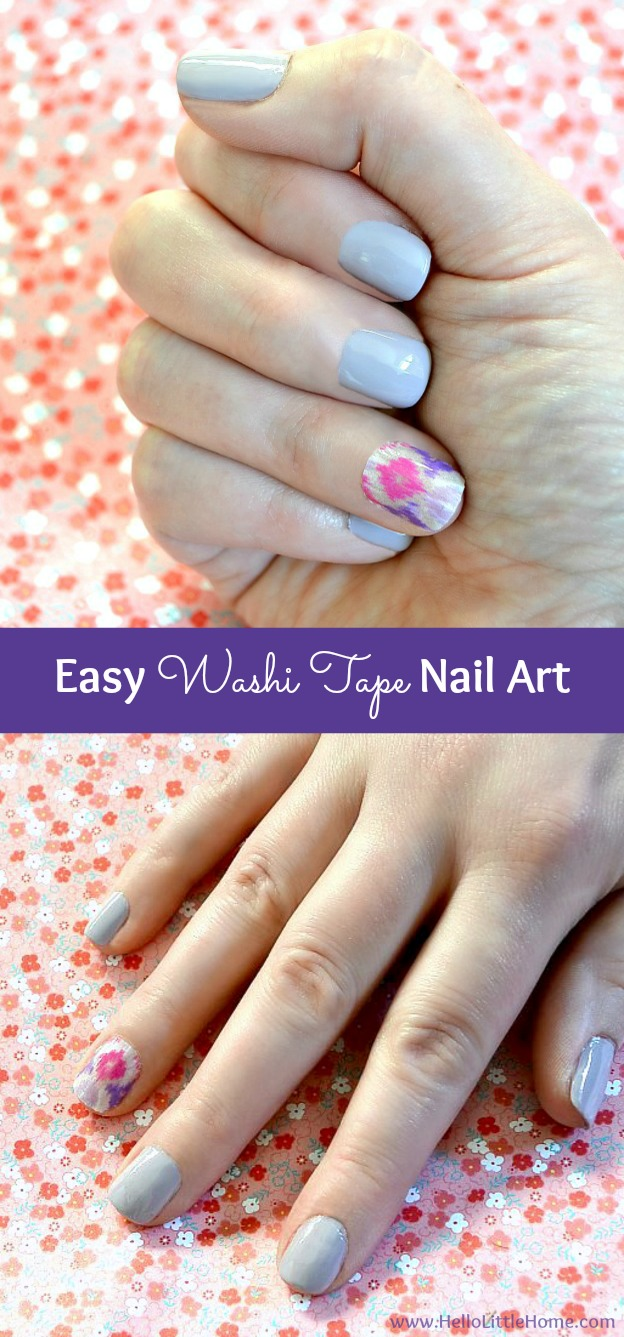 This Washi Tape Nail Art Is A Fun Way To Dress Up Simple Manicure