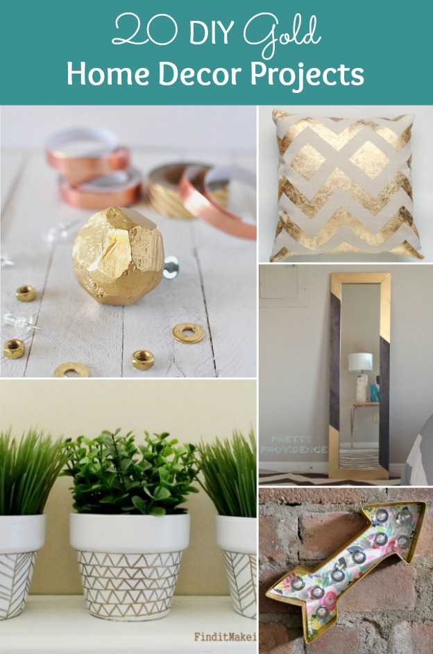 20 DIY Gold Home Decor Projects