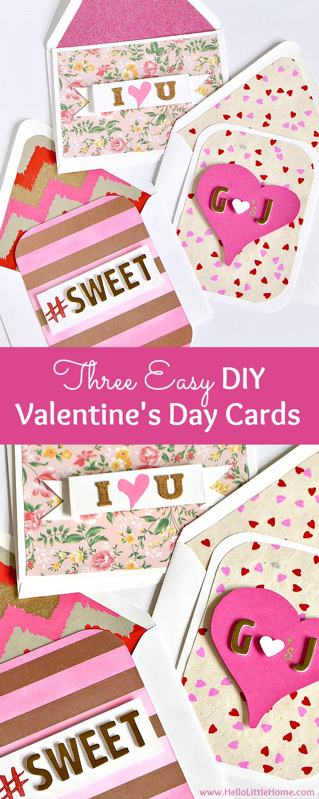 3 Easy Diy Valentine's Day Cards! This Easy To Follow Card Making Tutorial  Has All