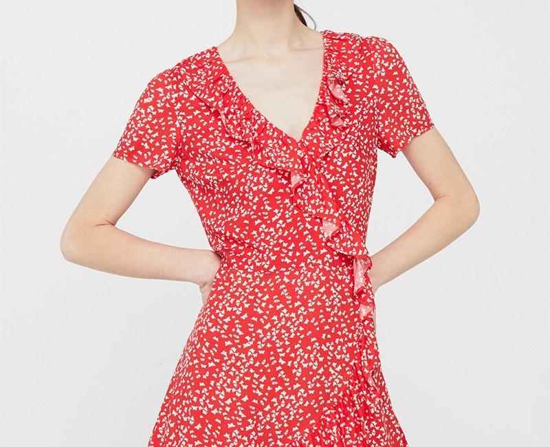 Floral Print Voile Bodysuit