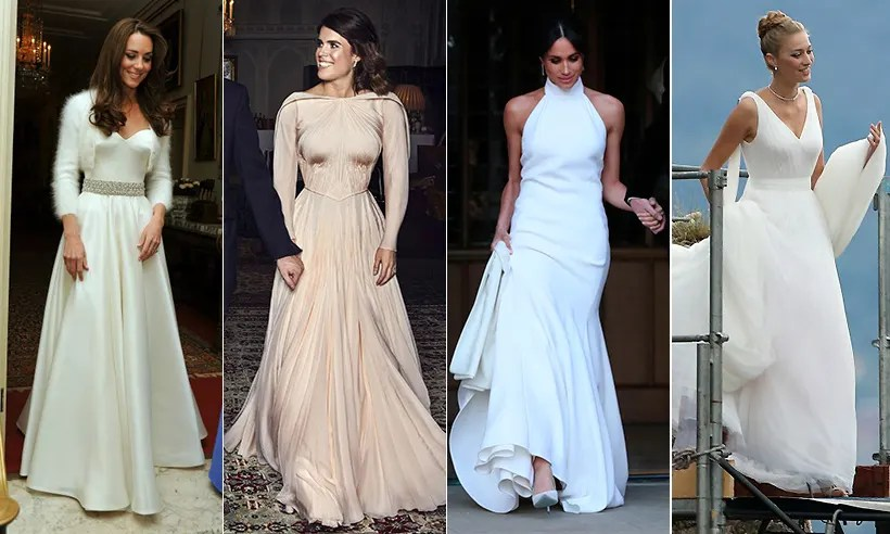 Royal Brides & Their Evening Wedding Reception Dresses