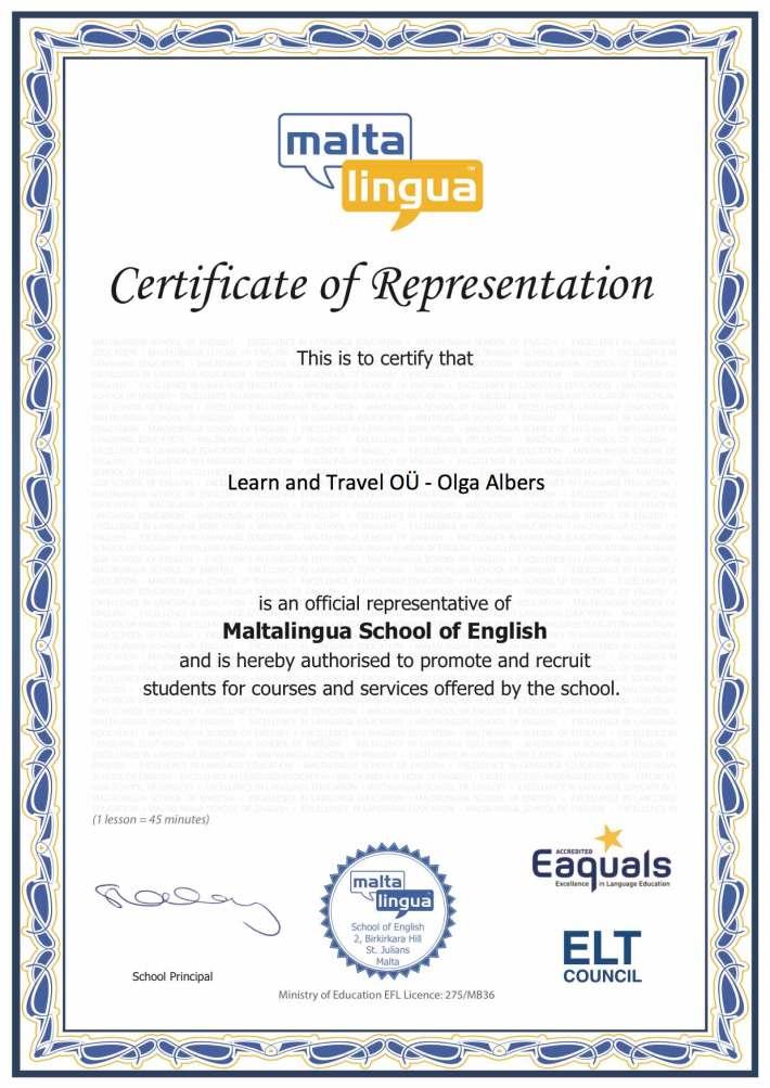Certificate_Maltalingua