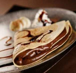 crepes ripiene di cioccolata