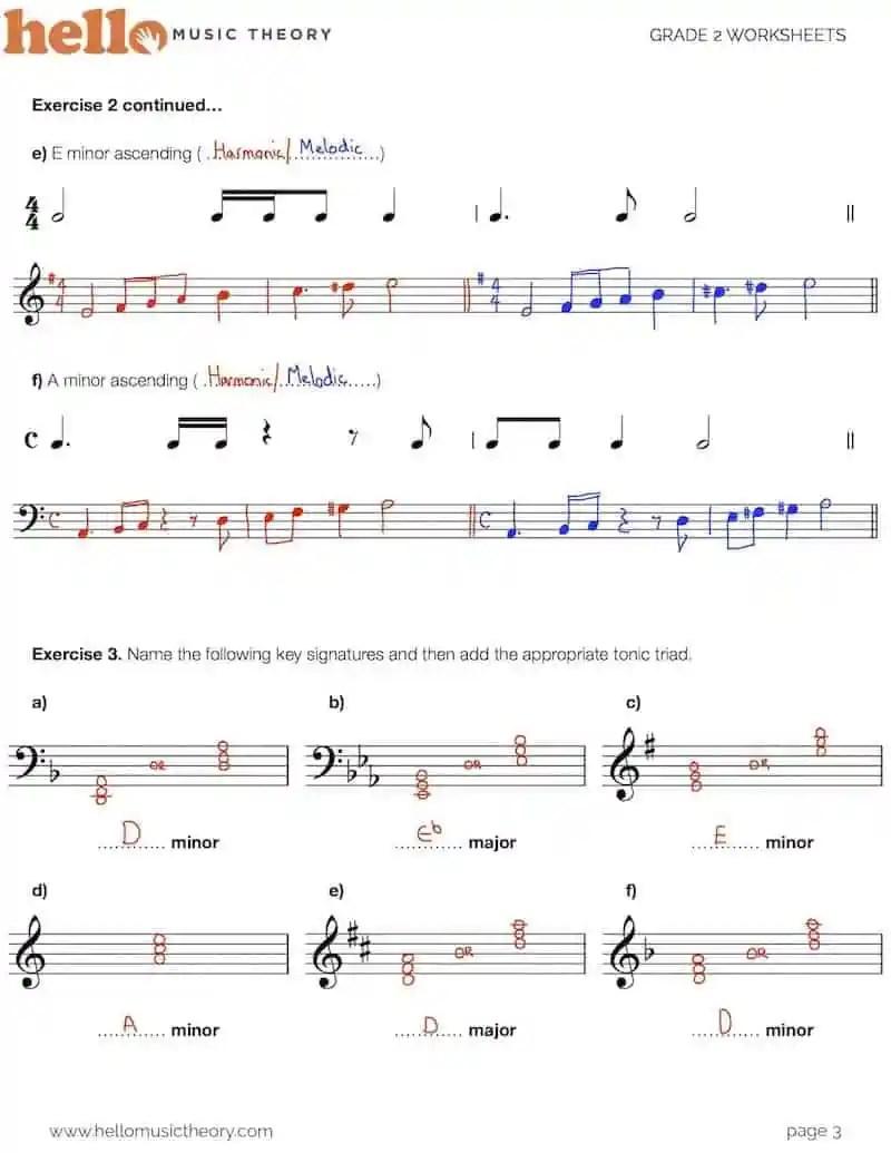 hight resolution of Grade 2 Music Theory Worksheets   HelloMusicTheory