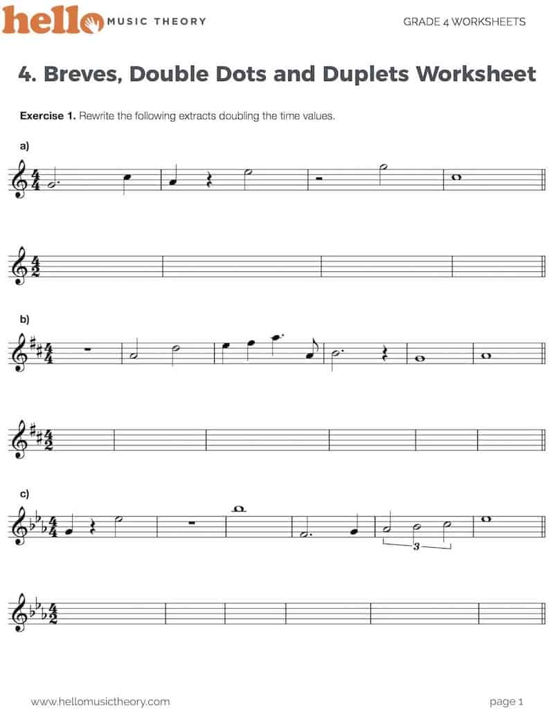 hight resolution of Grade 4 Music Theory Worksheets   HelloMusicTheory