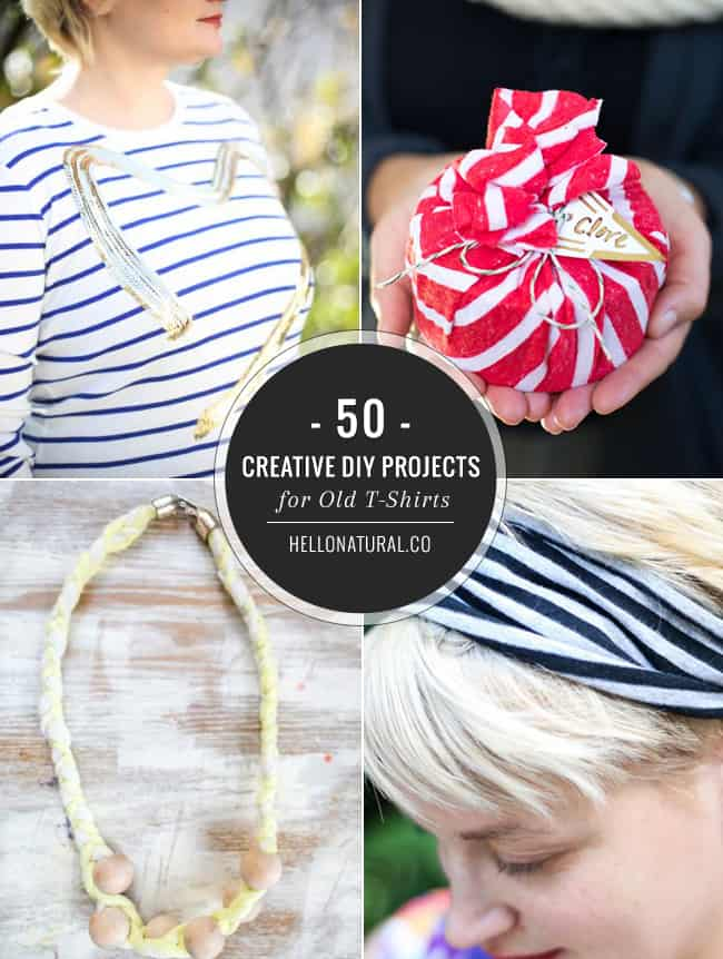 50 Creative DIY Projects for Old T-Shirts | HelloNatural.co