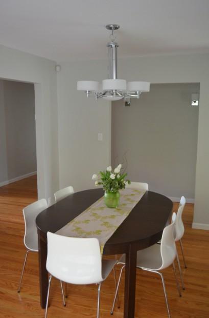 Modern Dining Room Light Fixture Makeover