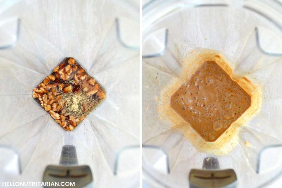 Oil Free Vegan Walnut Balsamic Salad Dressing Keto Vegan Vitamix Blender Salad Dressing Recipe Dr Greger How Not to Die What the Health