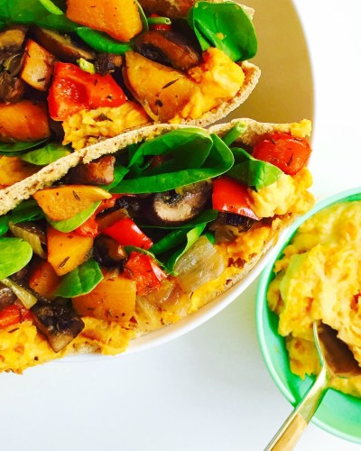 Roasted Fall Vegetable Pita no oil no added salt dr fuhrman eat to live diet 6 week plan Dr Greger daily dozen Engine 2 diet SOS diet recipes