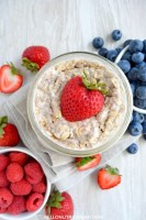 Simple Overnight Oats Feature Image Fruit Sweetened Eat to Live Breakfast recipe Meal Prep Food Prep Dr Fuhrman Dr Greger SOS free vegan recipes