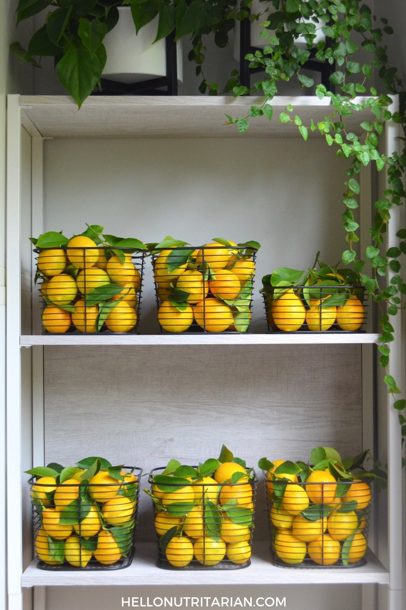 Why I Drink Hot Lemon Water Daily Hello Nutritarian Fresh fruit storage Medical Medium Starch Solution Kitchen Storage Ideas