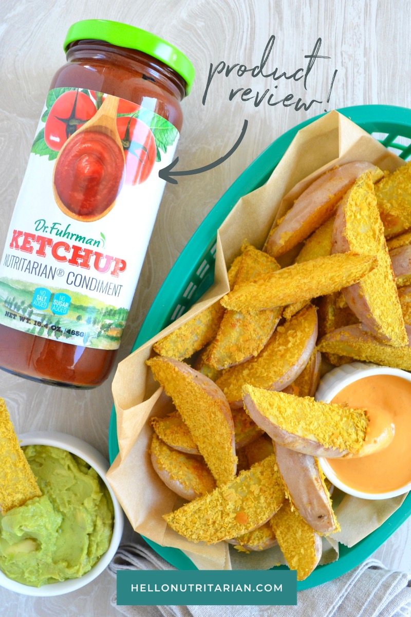 Oil Free Steak Fries by Hello Nutritarian Dr Fuhrman's Ketchup Product Review