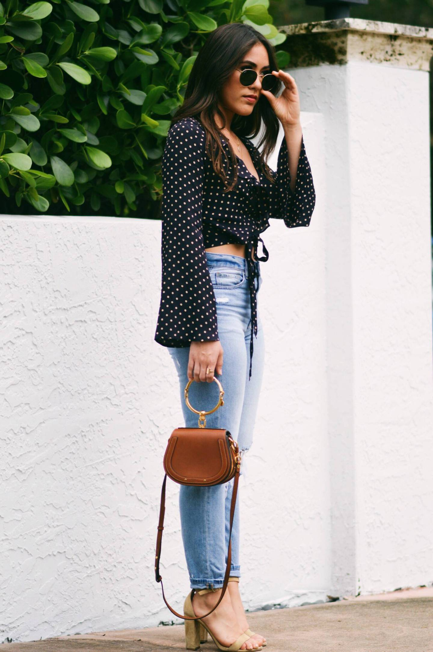 polka-dot-wrap-top-with-bell-sleeves