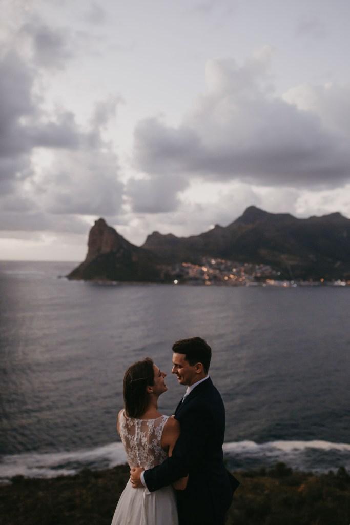 Newlyweds Chapmans Peak Cape Town Evening Bokeh