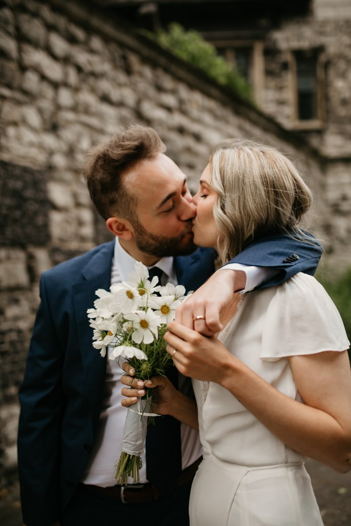 Newly weds at Charterhouse Square