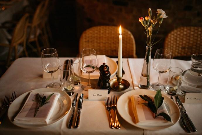 French Wedding Decor intimate london wedding le cafe du marche london