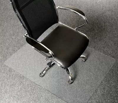 AmazonBasics Polycarbonate Office Carpet Chair Mat for Thick Carpets,