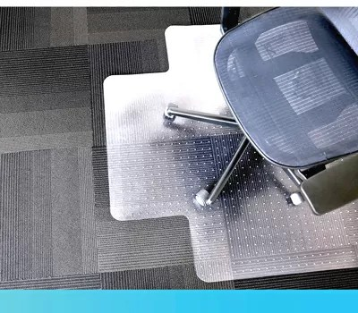 Dimex Clear Rectangle Office Chair Mat For Low Pile Carpet