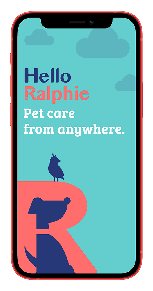 Hello Ralphie Pet Care From Anywhere App Screen