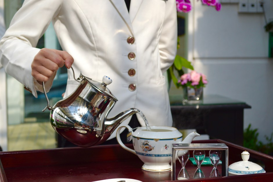 Tea Preparation | High Tea at the Majestic Hotel | Hello Raya Blog