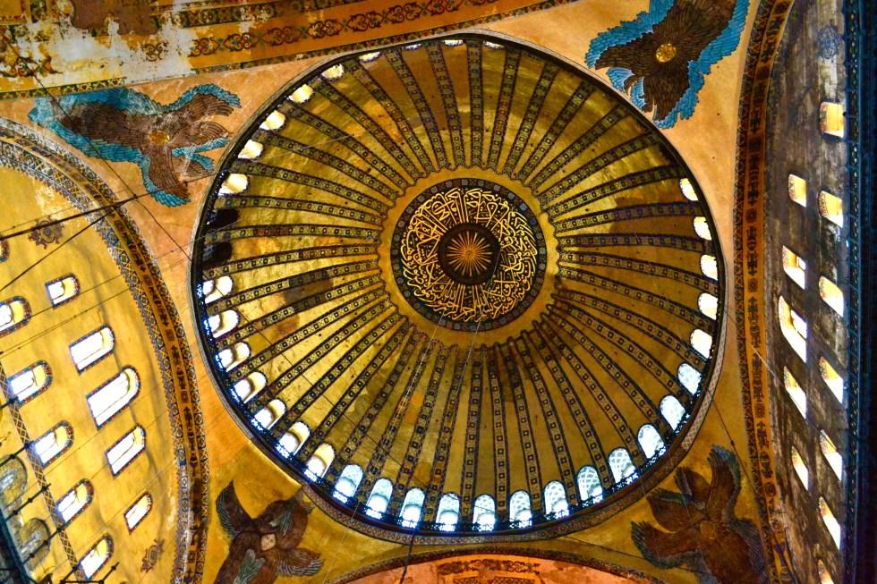 Ceiling | Hagia Sophia | Hello Raya Blog