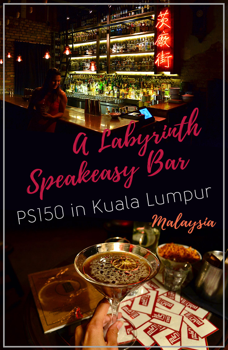 PS150 in Kuala Lumpur, Malaysia | A Labyrinth Style Speakeasy Bar Serving Delicious Cocktails | Hello Raya Blog