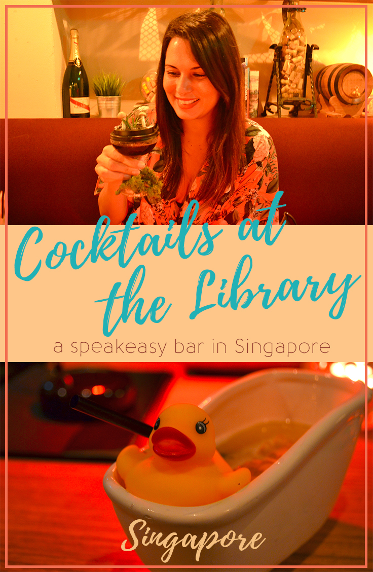 The Library Bar in Singapore - Deep in Forest Cocktail - Hello Raya BlogThe Library, a Speakeasy Bar in Singapore - Hello Raya Blog