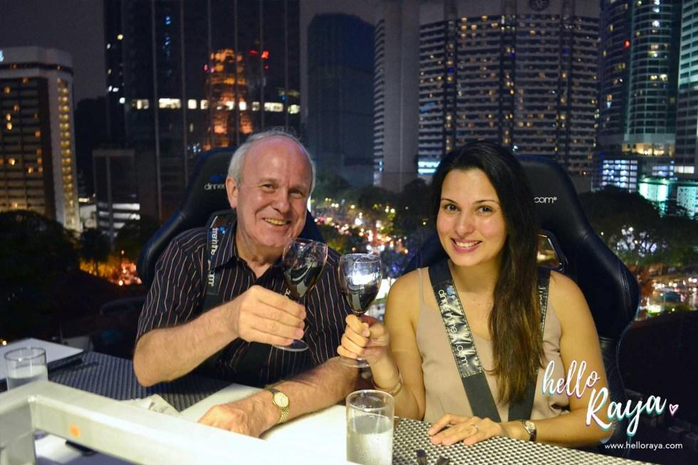 Dinner in the Sky Malaysia - 3 Course Dinner | Hello Raya Blog