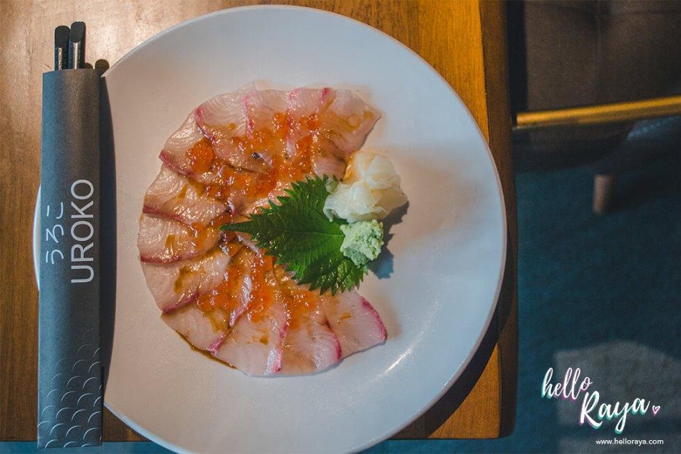 Uroko Japanese Restaurant KL - Kampachi Carpaccio | Hello Raya Blog