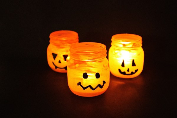 Halloween Candy and Candle Holder DIY - 8