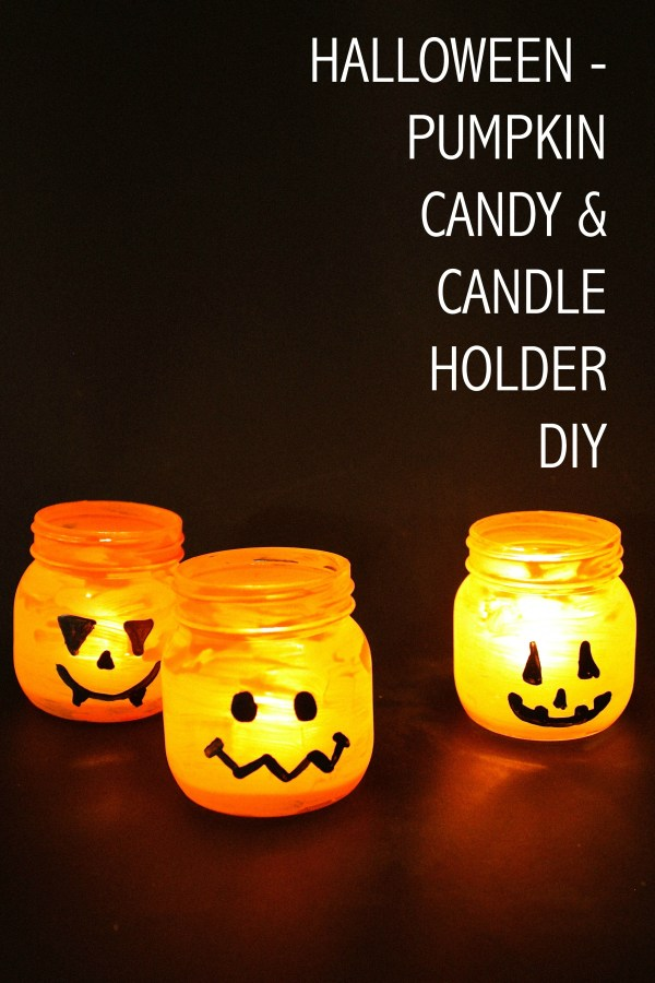 Halloween Candy and Candle Holder DIY