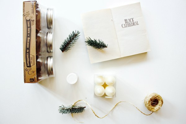 Rustic Christmas Candle DIY - 1